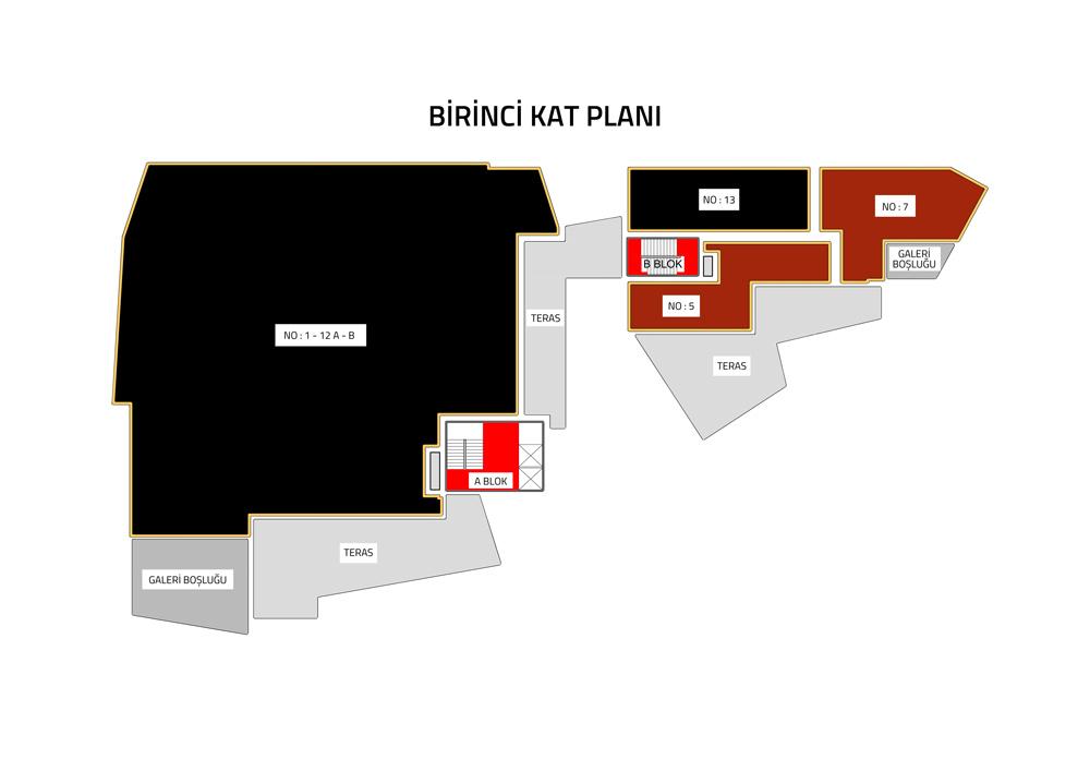 kiralık birinci kat planı
